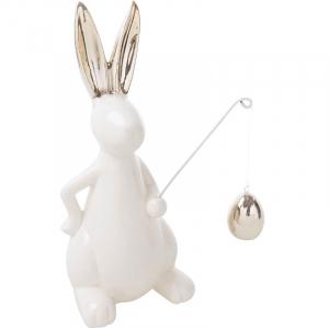Статуэтка кролик с яйцом Golden shine