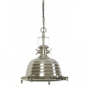 Подвесной светильник серый в форме колокола
