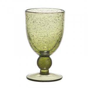 Оливковый бокал из стекла с воздушными пузырьками