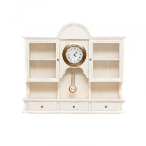 Часы с маятником белые
