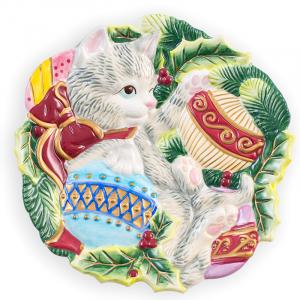 Тарелка декоративная с котятами