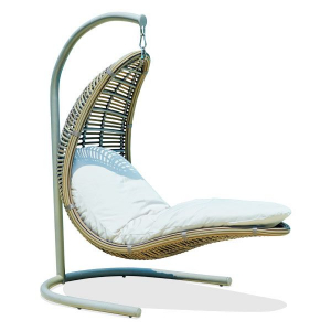 Плетеное садовое кресло-качели с мягким матрацем Christine