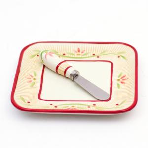 Тарелка для сыра новогодняя 15 см