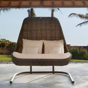 Кресло подвесное на стойке двойное Celeste Brown Omega Skyline Design