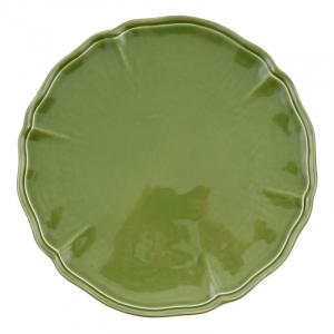 Тарелка подставная зелёная «Яркое лето»