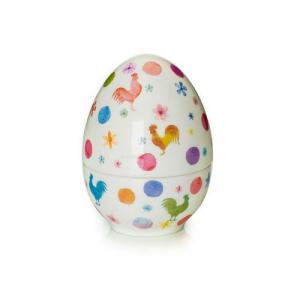Яйцо-шкатулка с пасхальным рисунком Cock-a-doodle-doo