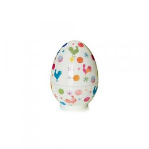 Яйцо-шкатулка с ярким рисунком Cock-a-doodle-doo