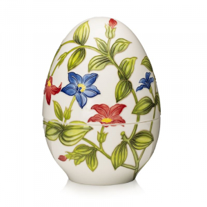 """Пасхальная фарфоровая шкатулка-яйцо """"Цветы"""" Palais Royal"""