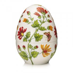 Пасхальное яйцо-шкатулка из фарфора «Мальвы» Palais Royal