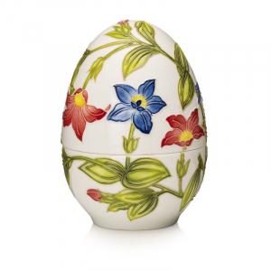 "Пасхальное яйцо-шкатулка из фарфора ""Цветы"" Palais Royal"