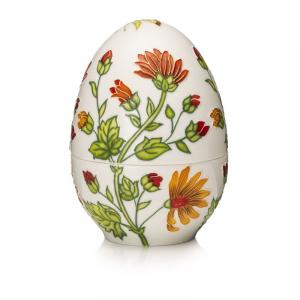 Фарфоровая шкатулка в форме яйца «Мальвы» Palais Royal