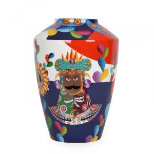 Разноцветная ваза с оригинальным рисунком Mediterraneo