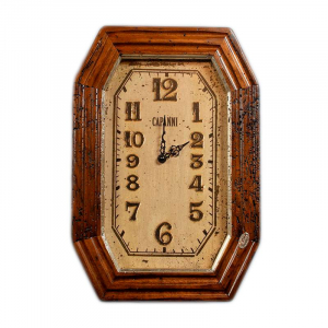 Часы настенные из антикварного дерева и керамики Capanni