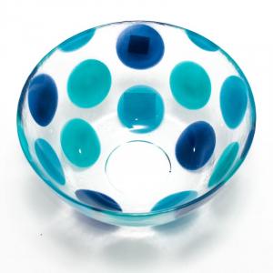 Пиала суповая Dots Blue прозрачная