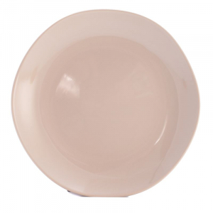 Тарелка обеденная бежевая Ritmo