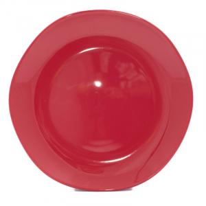 Тарелка обеденная красная Ritmo