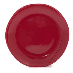 Тарелка десертная красная Ritmo