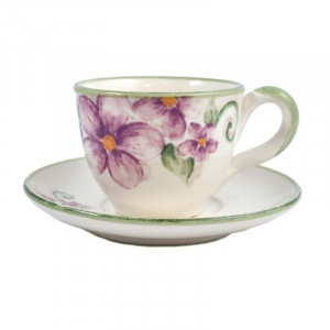 Чашка чайная с блюдцем Bizzirri Samantha