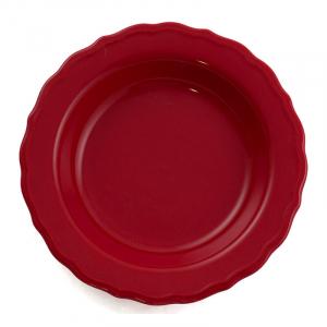Глубокая тарелка из керамики красного цвета Claire