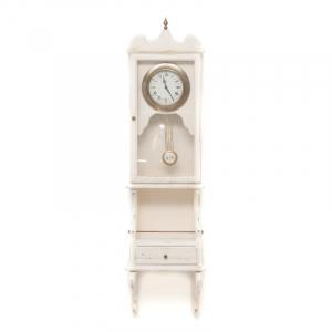 Часы-ходики белые