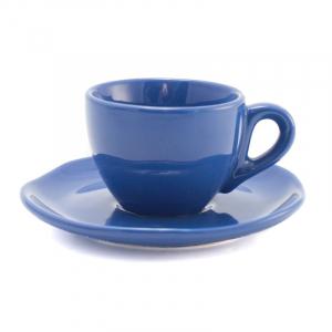 Чашки для кофе с блюдцами синие, набор 6 шт. Ritmo