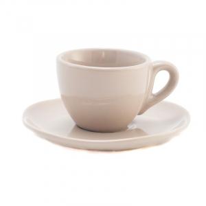 Чашки для кофе с блюдцами бежевые, набор 6 шт. Ritmo