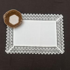 Салфетка белая с орнаментом Villa Grazia