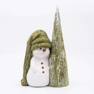 Статуэтка «Снеговик с ёлочкой»