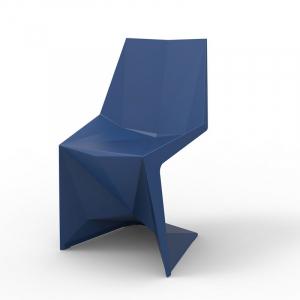 Креативный обеденный стул темно-синего цвета Voxel