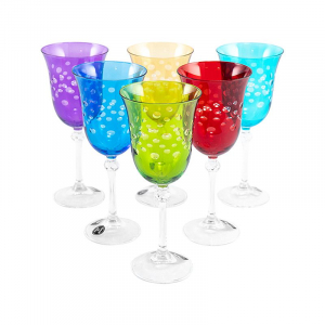 Набор разноцветных бокалов для вина Diva Maison, 6 шт