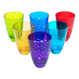 Набор разноцветных стаканов для напитков Diva Maison, 6 шт