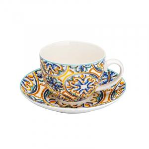 Чайные чашки с блюдцами с ярким дизайном Medicea, 2 шт.