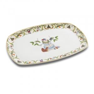 Блюдо прямоугольное с новогодним рисунком Christmas Maison