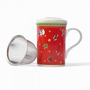 Чашка-заварник с ситечком и крышкой Felicity Maison