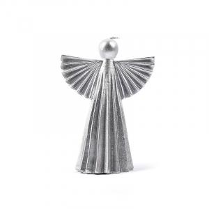 Свеча-ангел серебристого цвета Maison