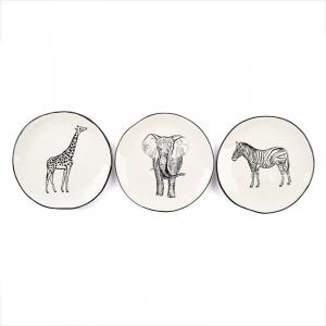 Комплект круглых десертных тарелок Masai 3 шт.