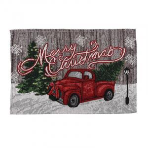 """Салфетка с рождественским рисунком """"Красная машина"""" Garland"""