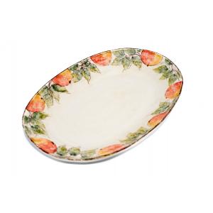 Блюдо овальное большое Персики