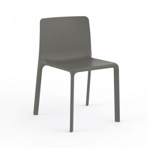 Минималистичный серый стул с подушкой для улицы Kes