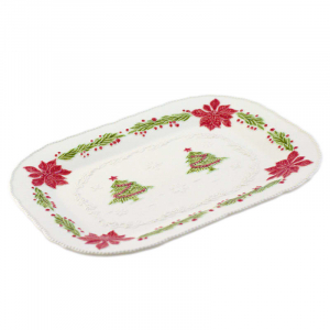 """Блюдо прямоугольное """"Рождество"""""""
