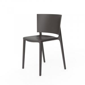 Садовый обеденный стул коричневого цвета с подушкой Africa