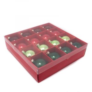 Набор новогодних игрушек красных и зеленых
