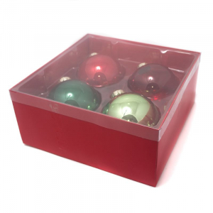 Набор новогодних игрушек-шаров красных и зеленых
