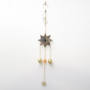 Подвесной новогодний декор звездочка