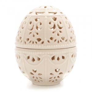 Шкатулка-яйцо керамическая молочного цвета Palais Royal