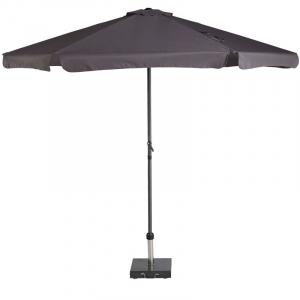 Дачный зонт цвета антрацит Antigua