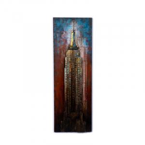 """Картина металлическая """"Эмпайр-стейт-билдинг"""" Loft Clocks & Co"""