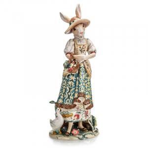Коллекционная пасхальная статуэтка изумительной ручной работы «Миссис Кролик»