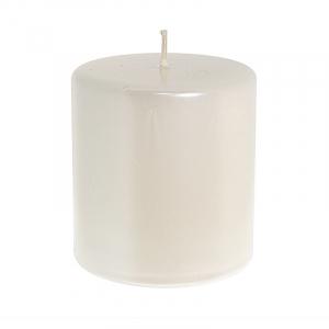 Свеча в виде цилиндра перламутрового цвета Lucid