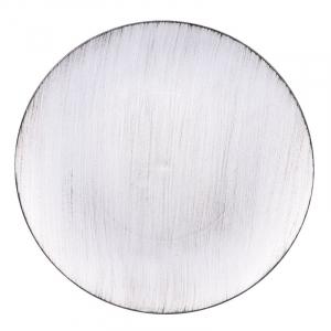 Тарелка подставная серебряного цвета Bastide